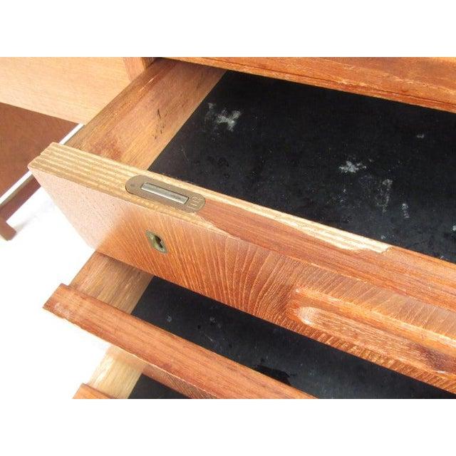 Wood Danish Modern Teak Double Pedestal Desk For Sale - Image 7 of 11