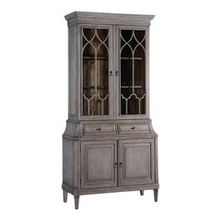 China Cabinet Rosalind Classic Greige Solid Wood For Sale