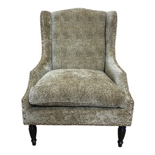 Elite Leather Company Cagney Tiger Eye Fabric Arm Chair For Sale