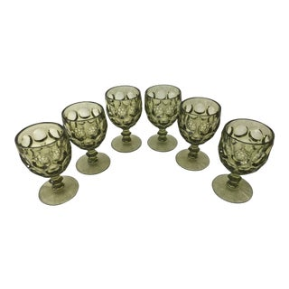 Vintage Imperial Thumbprint Water Glasses - Set of 6