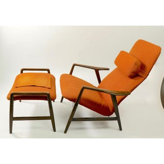 1950s Vintage Alf Svensson for Fritz Hansen Kontor Chair and Ottoman Preview