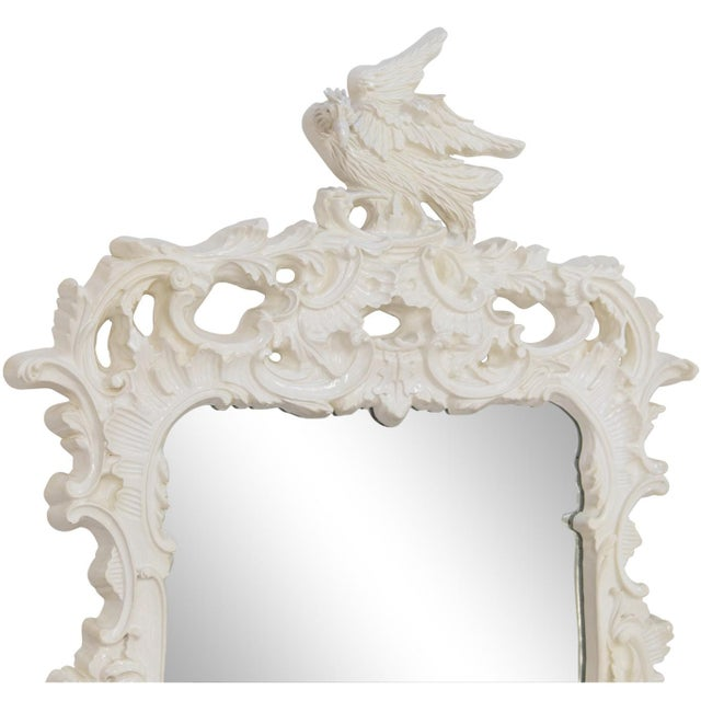 Glass Chinese Chippendale Eagle Crest Mirror For Sale - Image 7 of 11