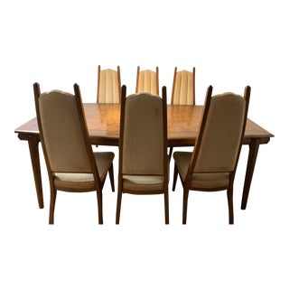 1960s Mid-Century Modern Cal Mode Dining Set - 7 Pieces For Sale