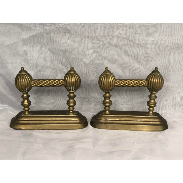 Antique Victorian Fire Dogs- a Pair For Sale - Image 12 of 13