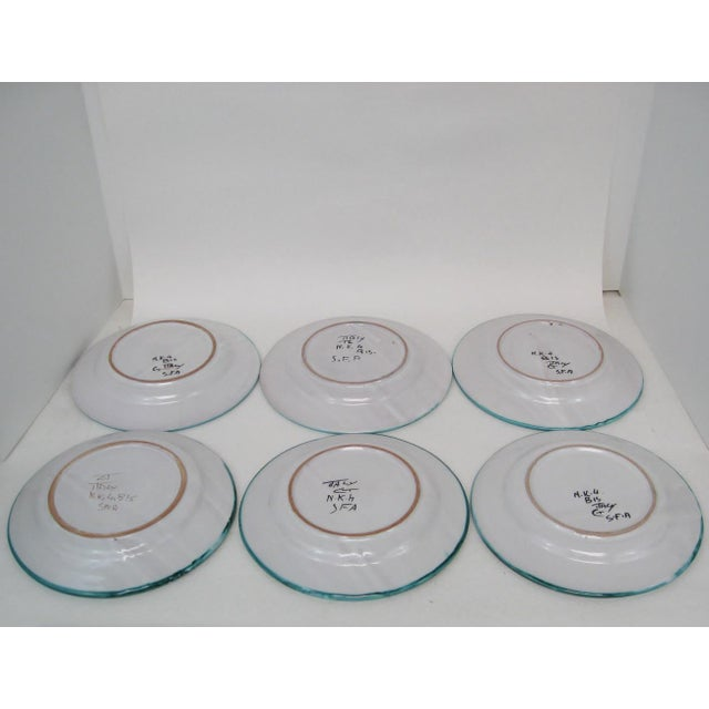 Late 20th Century Italian Salad Plates - Set of 6 For Sale - Image 5 of 7