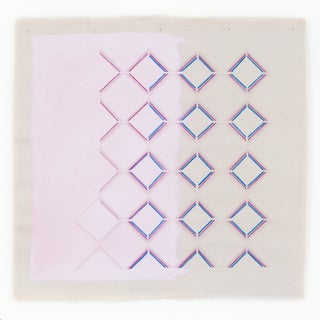 """Modern Pink and Purple Geometric Art Print by Emily Keating Snyder - 20x20"""" For Sale"""