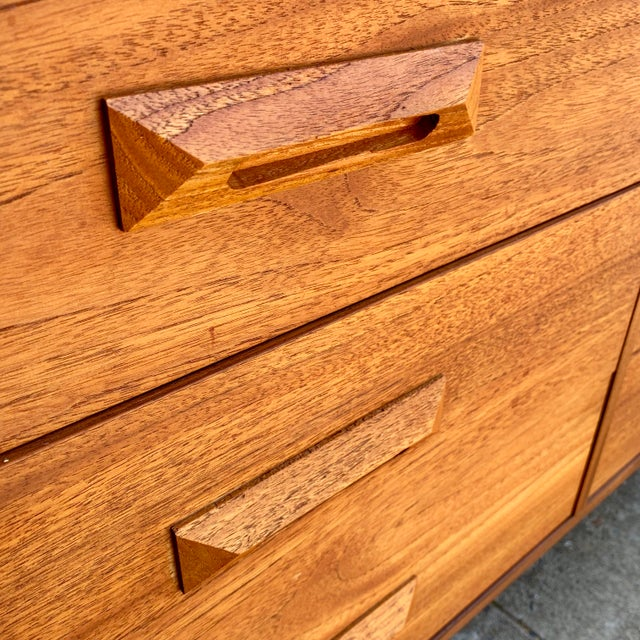 1960s 1960s Danish Modern Teak and Rosewood Lowboy Dresser For Sale - Image 5 of 7