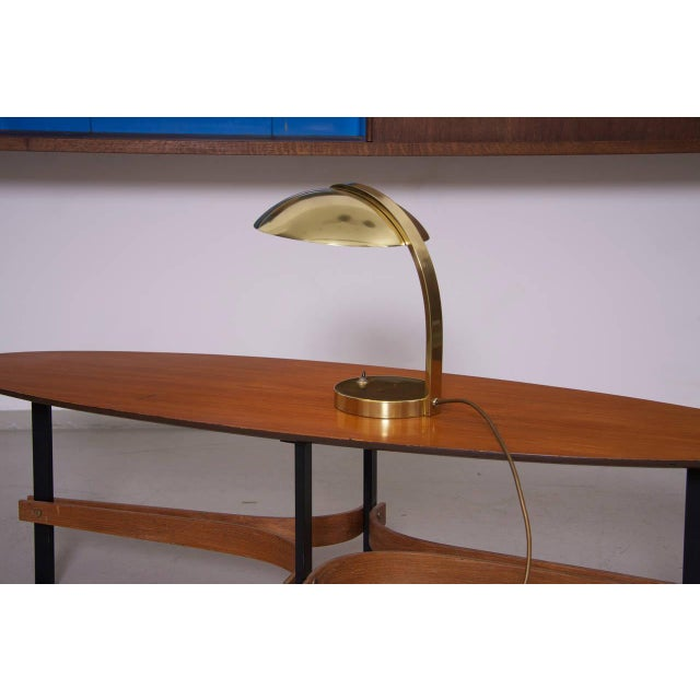 Italian 1960s Luxury Brass Table Lamp For Sale - Image 4 of 6