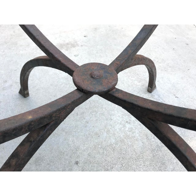 Sculptural Iron & Glass Table For Sale - Image 5 of 6