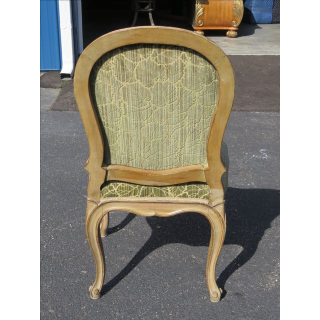 French Distressed Painted Dining Chairs - Set of 6 - Image 10 of 10