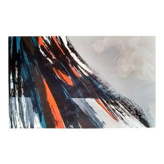 """Howard Bradford 1973 """"July Landscape #1"""" Serigraph"""