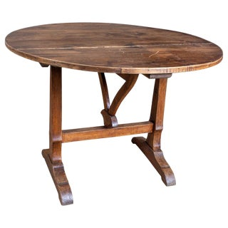 19th Century Antique French Wine Harvest Tilt-Top Table For Sale