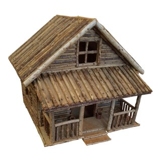 Antique Folk Art Handmade Dollhouse