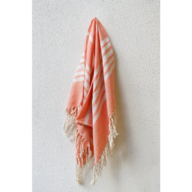 Modern Turkish Hand Made Towel With Natural/Organic Cotton and Fast Drying,18x27 Inches Set of 2 For Sale - Image 3 of 4