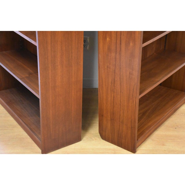 Black Large Walnut Bookcases- A Pair For Sale - Image 8 of 10