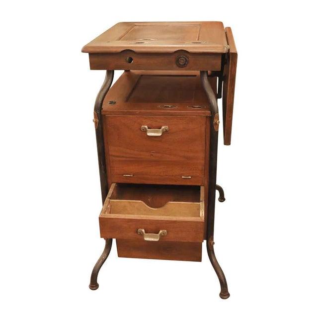 Traditional 1920's Vintage Gestetner Duplicator Machine Wooden Cabinet For Sale - Image 3 of 9