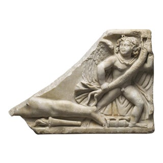 Roman Marble Sarcophagus Fragment For Sale