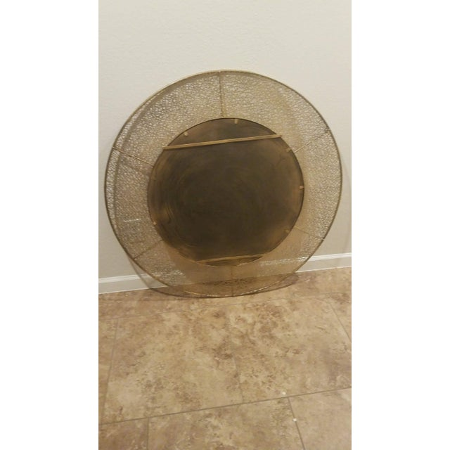 Mid-Century Modern 1950s Vintage Brass Wall Mirror For Sale - Image 3 of 7