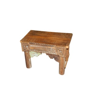 1920s Boho Chic Hand Carved Side Table