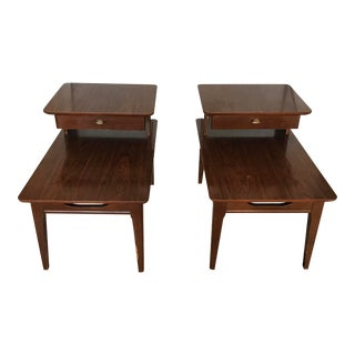 Vintage Two Tiered End Tables - a Pair For Sale