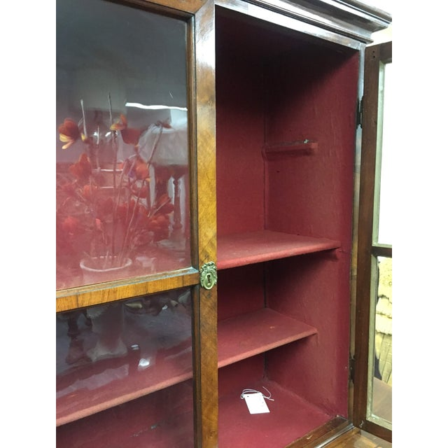 Antique 19th C. European Glass Display Cabinet / Bookcase With Marquetry For Sale In Denver - Image 6 of 12