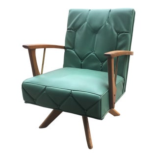 Charlotte Perriand for Paoli Chair Co. Mid-Century Swivel Arm Chair