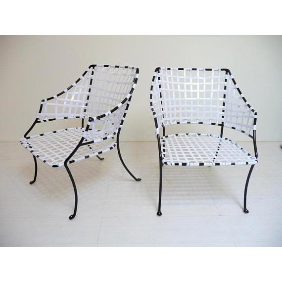 Metal Vintage Brown Jordan Patio Lounge Chairs - A Pair For Sale - Image 7 of 7