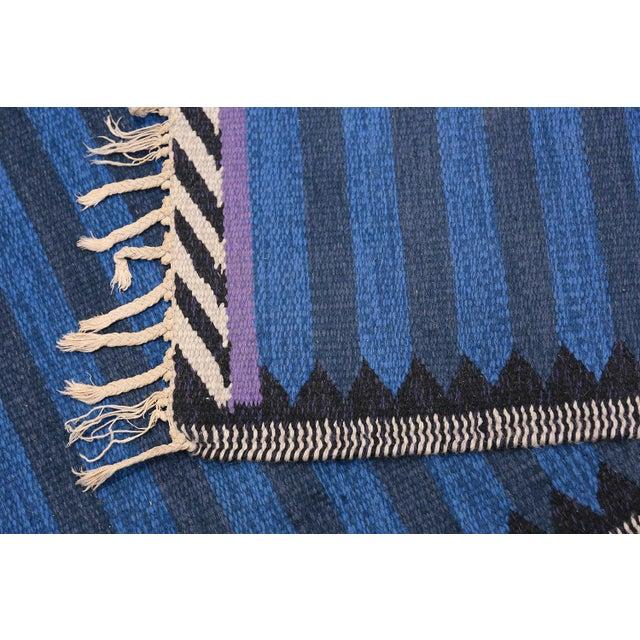 Textile Vintage Scandinavian Swedish Runner Rug - 3′ × 8′ For Sale - Image 7 of 8