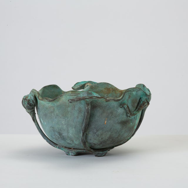 Tiffany Studios Tiffany Studios Bronze Bowl With Verdigris Finish For Sale - Image 4 of 10