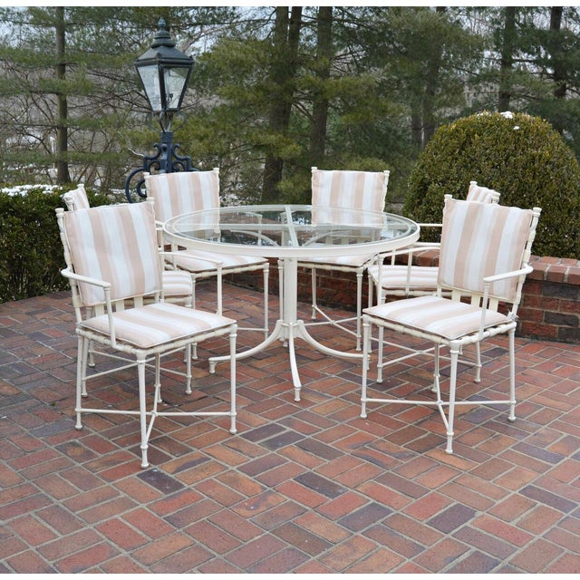 Vintage Brown Jordan Outdoor Cast Metal Patio Table and Chairs For Sale - Image 13 of 13