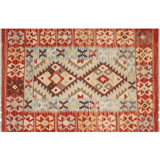 "Nalbandian - Contemporary Afghan Maimana Kilim - 2'7"" X 3'11"" For Sale"