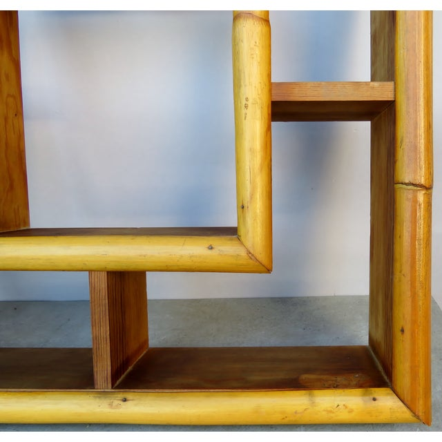 Vintage Bamboo Rattan Tiki Atomic Retro Whatnot Shelves, a Pair For Sale In Los Angeles - Image 6 of 8