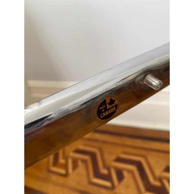 Metal Vintage 1970s Modern Milo Baughman Style Tubular Chrome Side Table For Sale - Image 7 of 9