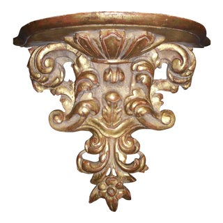 Spanish Style Giltwood Wall Sconce For Sale