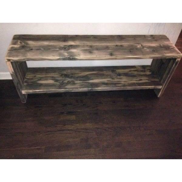 Custom Rustic Wood Bench - Image 3 of 7
