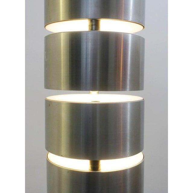 Brushed Metal Floor Lamp by Stilux, Milano, 1972