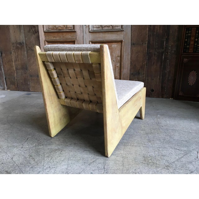 Architectural Modernist Slipper Chair For Sale - Image 4 of 7
