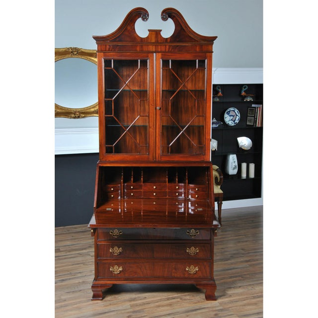 Traditional Mahogany Secretary Desk For Sale - Image 4 of 8