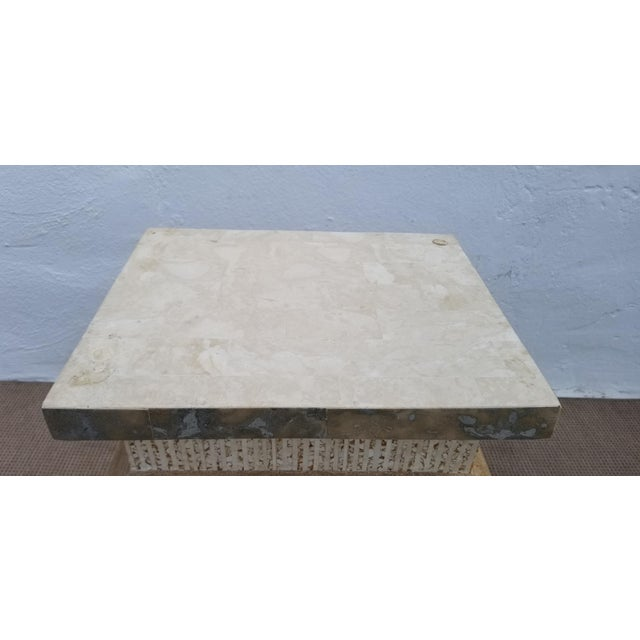1980s Vintage Maitland Smith Tessellated Stone Pedestal For Sale In Miami - Image 6 of 9