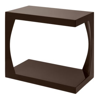 Veere Grenney Collection Embankment Side Table in Chocolate For Sale
