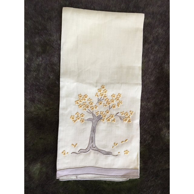 Vintage Embroidered Tree Tea Towel - Image 4 of 10