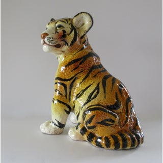 Vintage Hand Painted Italian Majolica Tiger Cub Preview