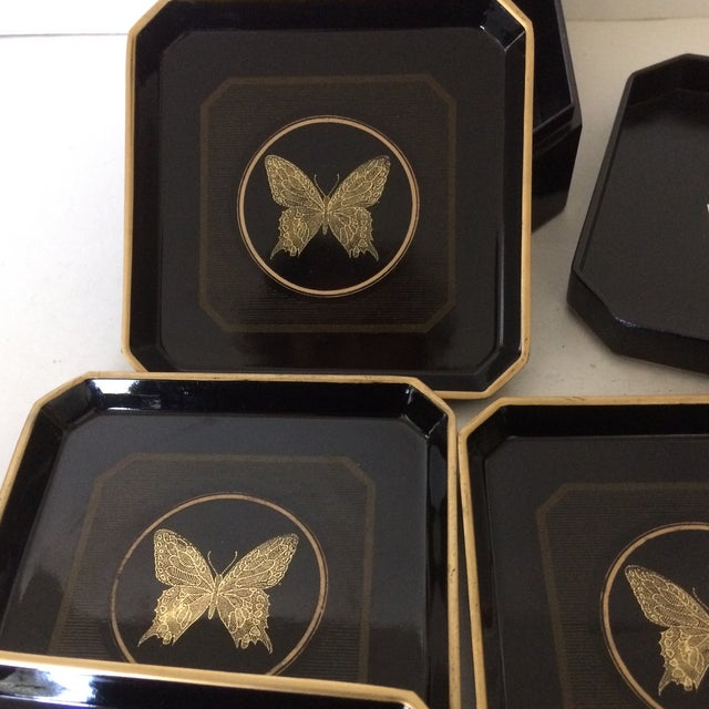Papillon Otagiri Butterfly Coasters - Set of 6 For Sale - Image 11 of 11
