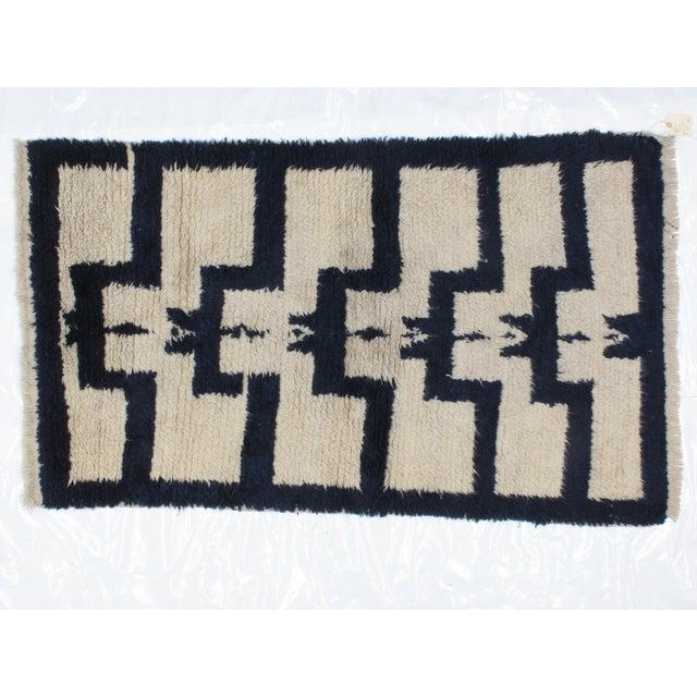 Wool on wool genuine hand made vintage Turkish Tolu rug -