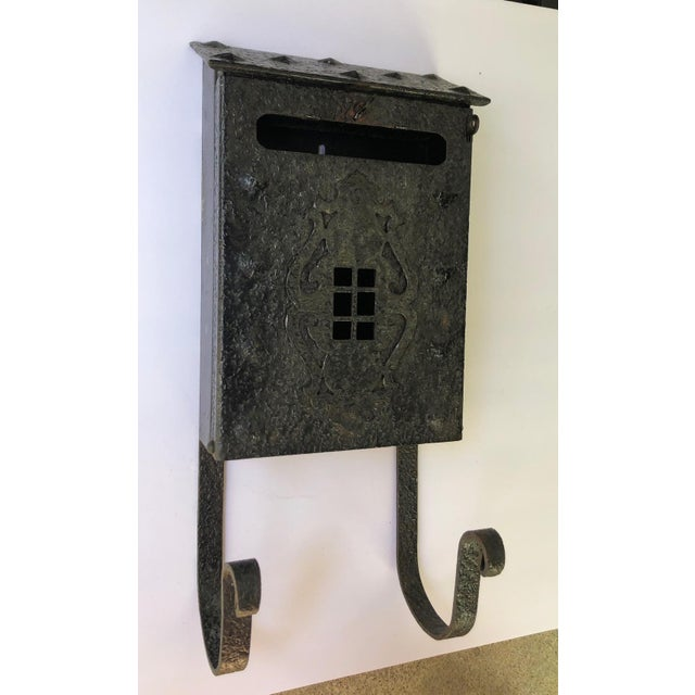 MIssion Tudor Gothic Iron House Mailbox For Sale - Image 9 of 9