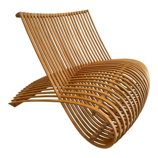 1990s Cappellini Attributed Wood Chair For Sale