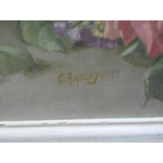 Christie Repasy Shabby Chic Floral Painting - Image 4 of 5