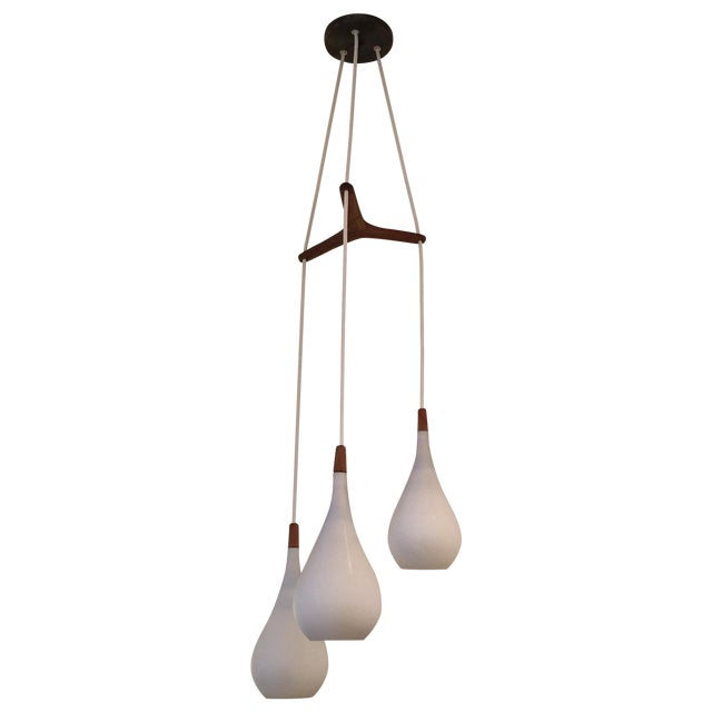 Laurel Walnut 3 Pendant Light Fixture - Image 1 of 11
