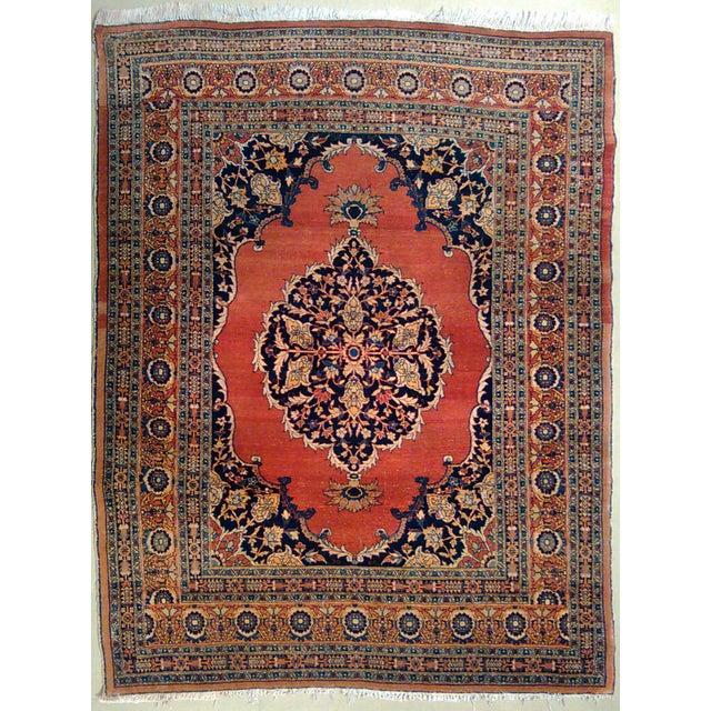 """Antique Tabriz Rug - 4'5"""" X 6'2"""" - Image 1 of 3"""