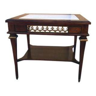 Vintage French Provincial Side/End Table With Marble Top For Sale